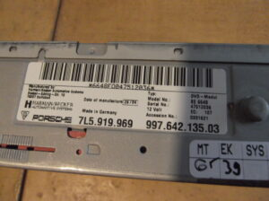 7L5.919.969 & 997.642.135.03 Navigatie, DVD, GPS unit Porsche Cayenne, Porsche 911-997, Porsche Boxster 987