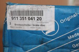 911.351.041.20 Front Brake Disc Set Porsche 911, Porsche 914, Porsche 924 & Porsche 944