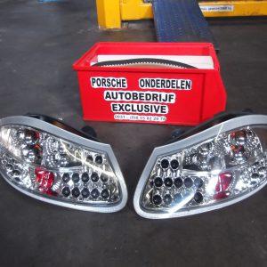 Led achterlichten set chroom Porsche Boxster - 986 links & rechts.