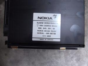 Nokia amplifier 98664530102 & 49134 70157 Porsche Boxster.
